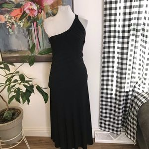 Tadashi petite collection one shoulder gown XS 4U